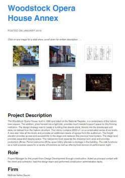 The published post. Each portfolio page, which is actually a blog post, has a uniform look.