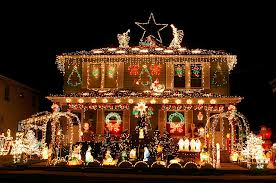 Outshine your neighbors by sparkling your home with beautiful holiday items decorated in bright, colorful lights.