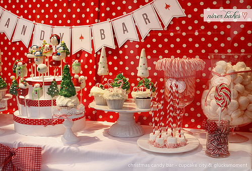 Christmas Theme Candy Buffet & Dessert Table