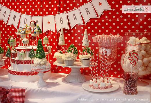 Christmas Theme Candy Buffet & Dessert Table