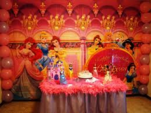 Here is an example of a theme party for a child. This child's theme birthday party is for a princess. Theme parties do not have to be for children only though. Adults can enjoy them too.