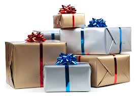 Wrapping in different colors for different people ensures that no one knows which gifts are theirs..