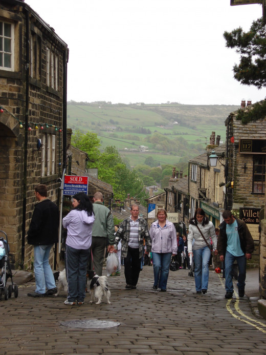 The Cobbled Main Street of Haworth