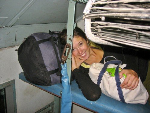 The Upper Berth (SL) is not exactly spacious