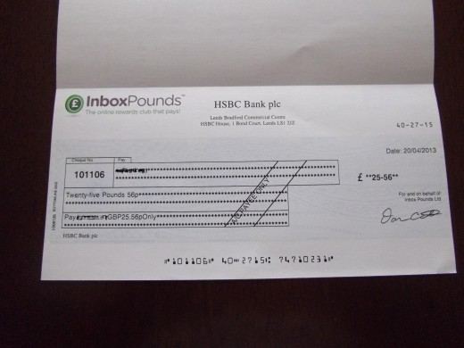 My first payout check.