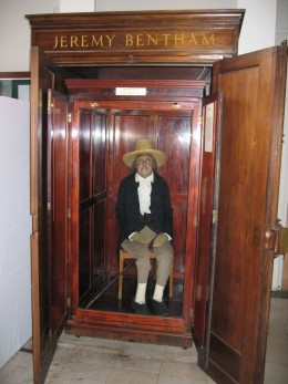 The embalmed Jeremy Bentham at UCL!