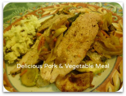 Vegetable Medley Cooked with Pork and Caraway Seed
