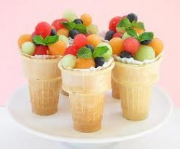 Kids love their fruit salad served like this.