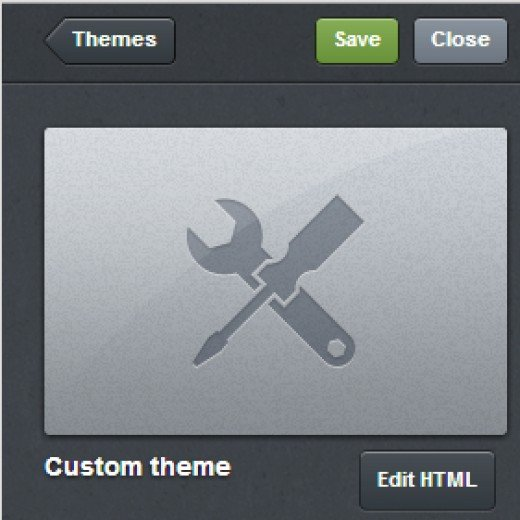 "Click ""Edit HTML"" to open the HTML code editor for your Tumblr blog."