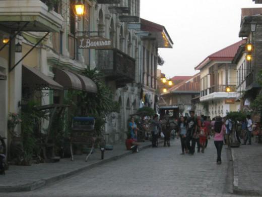 Calle Crisologo located in Vigan, Ilocos Sur