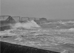 Probably the most enduring picture of Saltcoats, this image is often used in weather reports to show the severity of high winds