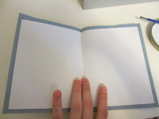 The inside of a finished greeting card.