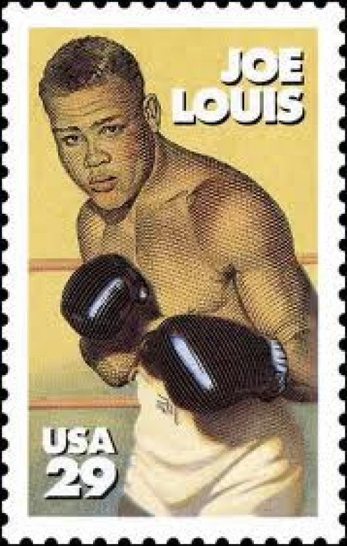 The Brown Bomber Joe Louis was so famous he even has his own U.S. Postage stamp. Joe Louis defended the heavyweight title a record 25 consecutive times which is a boxing record regardless of weight class.
