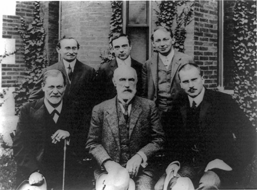 Not quite the Avengers but twice as educational. Front row: Freud, Stanley Hall, Jung