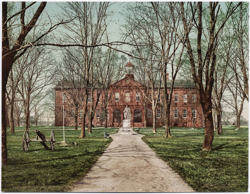 At the college of William and Mary circa 1902 (Photos this page public domain).