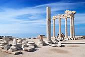 Ancient ruins of temple of Apollo in Turkey