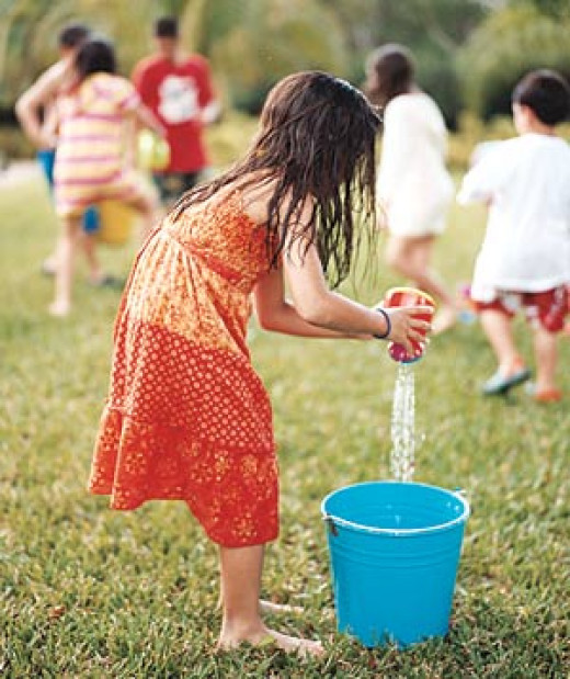 Water relay game