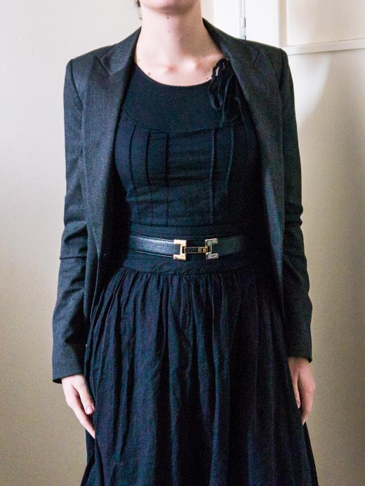 Dress it up - with a suit jacket and a belt