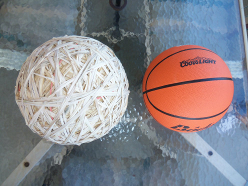 A world record rubber band ball in the making!