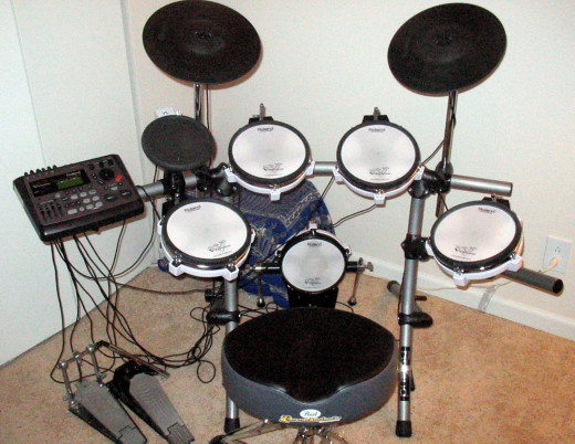 A MIDI drum kit.