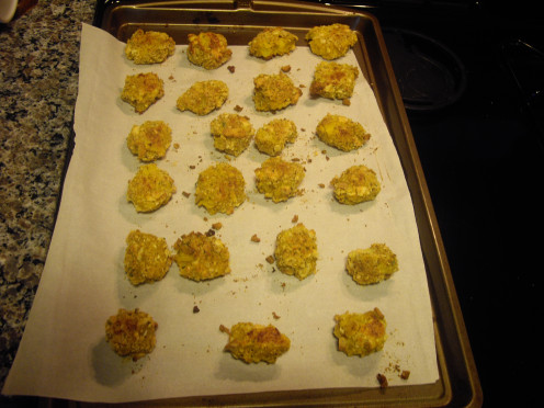 A baking sheet full of Tater Tots, all from only 2 medium potatoes