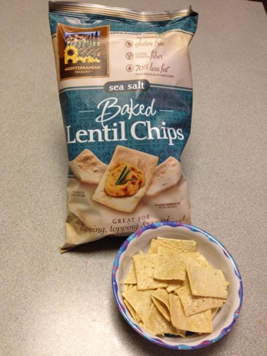 Mediterranean Snacks Baked Lentil Chips