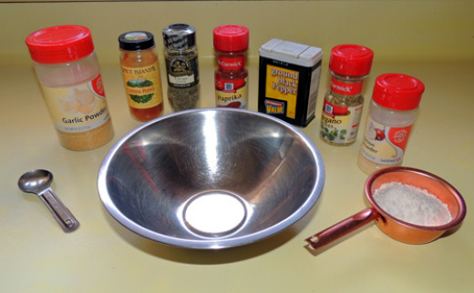 assemble your mise en place for spices