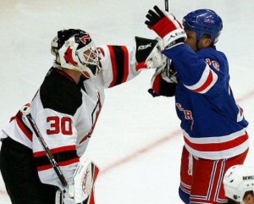 Yet more Avery hijinx, with Martin Brodeur serving the role of the unfortunate victim