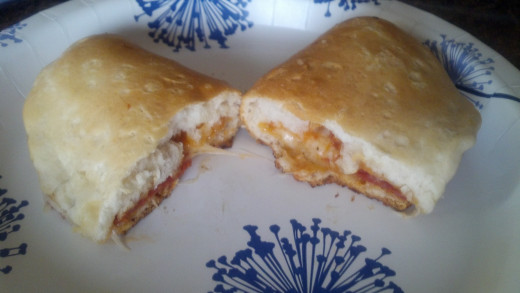 Grilled Pizza Pockets
