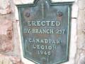 Commemorative plaque, Colonel John McCrae Memorial Gardens, Guelph