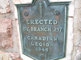 Commemorative plaque, Colonel John McCrae Memorial Gardens, Guelph