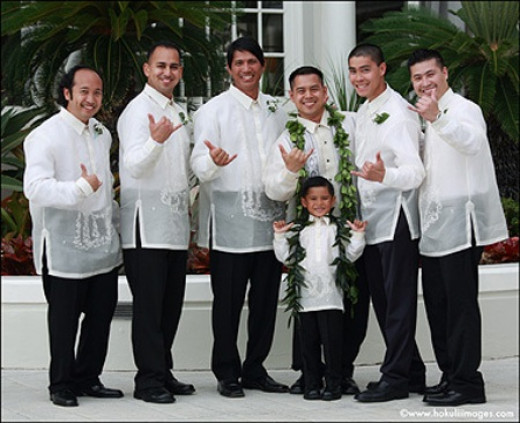 Groom And Groomsmen In Traditional Wedding Attire
