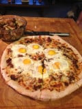 Philly Cheese Steak and Eggs Breakfast Pizza