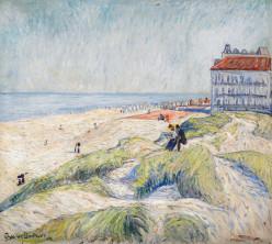Beach at Knokke, 1908, by Theodore von Brockhusen (1882-1919)