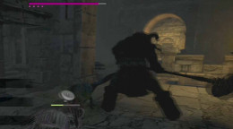 Dragon's Dogma Dark Arisen beware the minotaur's charge. Clear the middle level at the tower of wargs before luring the minotaur to that area.