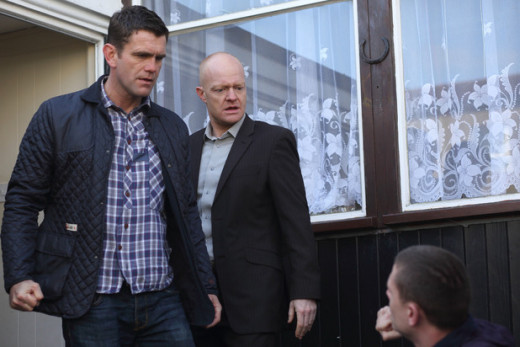The branning brothers warn Adam and Carl to leave Kirsty alone