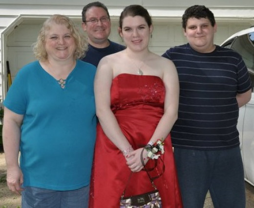 Myself with my family, Prom 2011