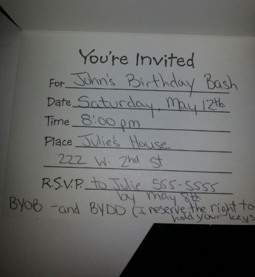 Inside the Invitation.