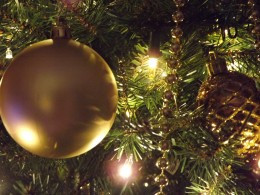 Gold Christmas Tree Bulb