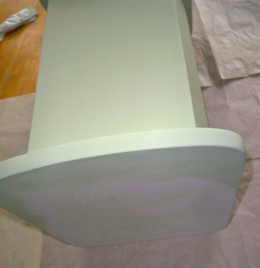1. Paint the primed cradle a base color.