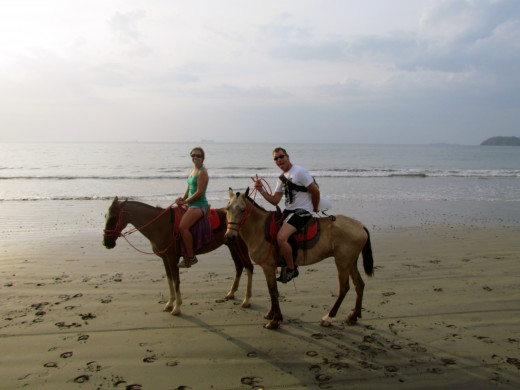 Tom and I on a sunset horseback riding tour.
