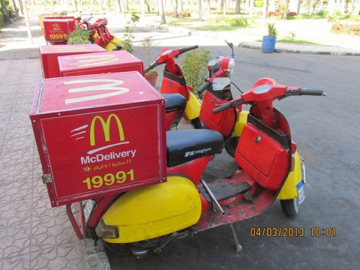 McDonald's delivery scooters Copyright REKongaika