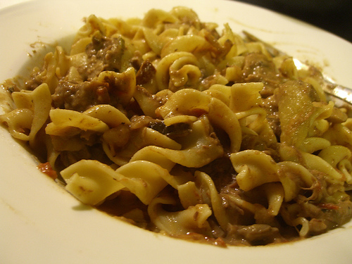 Beef Stroganoff is a great way to get your mushrooms.