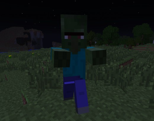 Zombie villagers can be spawned or turned by zombies on normal or hard difficulty.