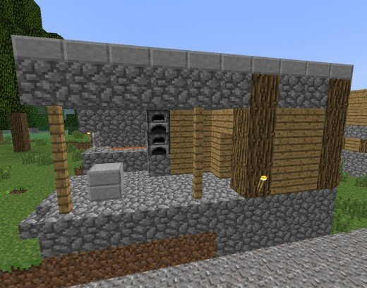 Blacksmith shops are often found in spawned villages  along with a  Blacksmith. How to Make Your Own Village in Minecraft   LevelSkip