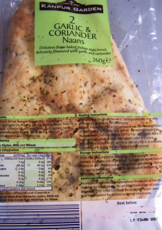 Easy Store Cupboard Pizza Recipe: Garlic and Coriander Naan Bread as a base