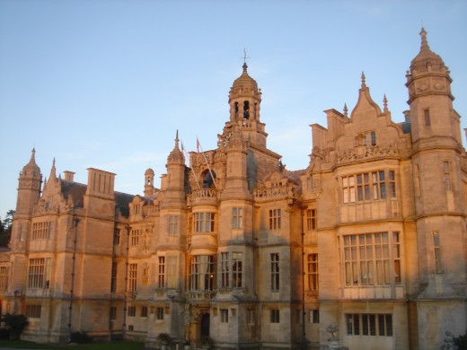 Harlaxton Manor, England, a 19th century meeting of Renaissance, Tudor and Gothic architecture produced Jacobethan - a popular form of mansion architecture.