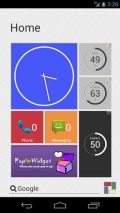 SquareHome, showing off the clock, memory, and other indicators (change the clashing colors yourself)