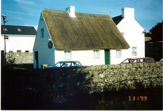 The Quiet Man Cottage has been moved into the village of Cong to promote tourism.
