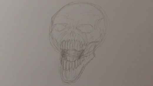 Draw the teeth darker now and pencil shade the inner mouth